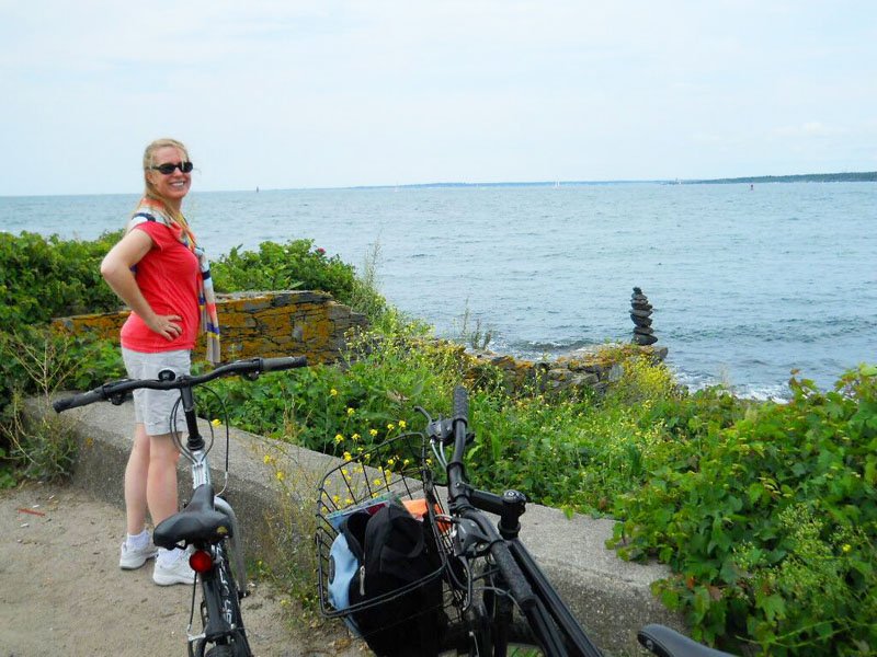 Our cruise ship stopped in Newport, RI, and we immediately rented two bikes, a great town to bike around