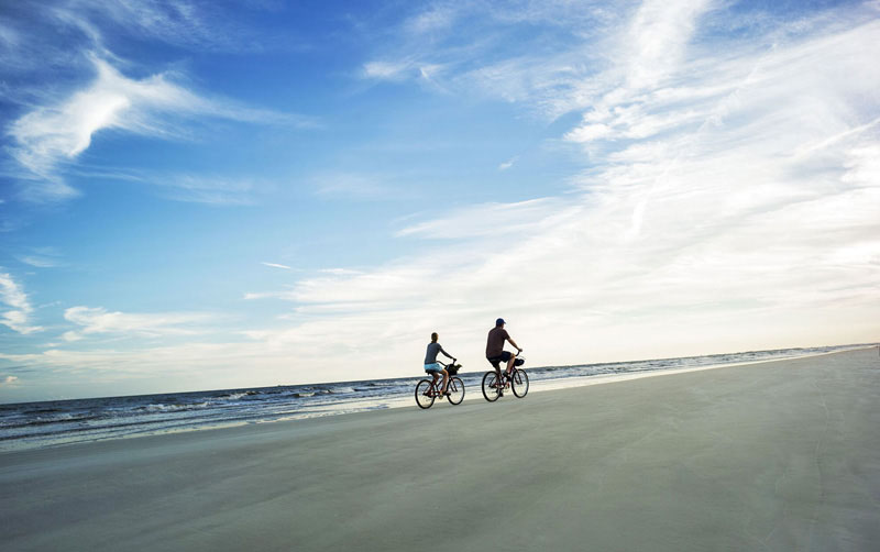 The hard-packed beaches of Hilton Head are great for riding on (Photo courtesy HiltonHeadIsland.org)