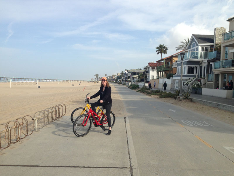 On the way to Hermosa Beach for breakfast (California is #1 for biking)