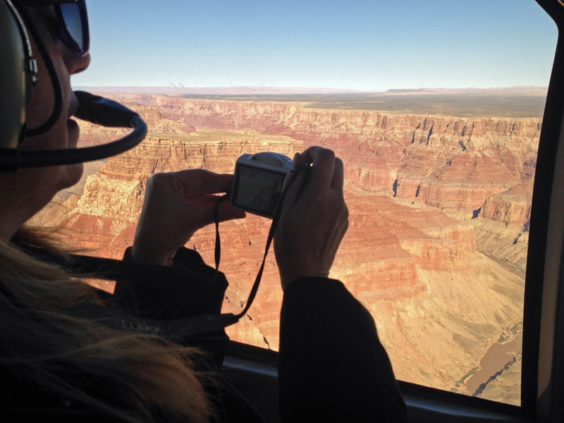 You can see for miles above the Grand Canyon, and take miles of photos, accordingly