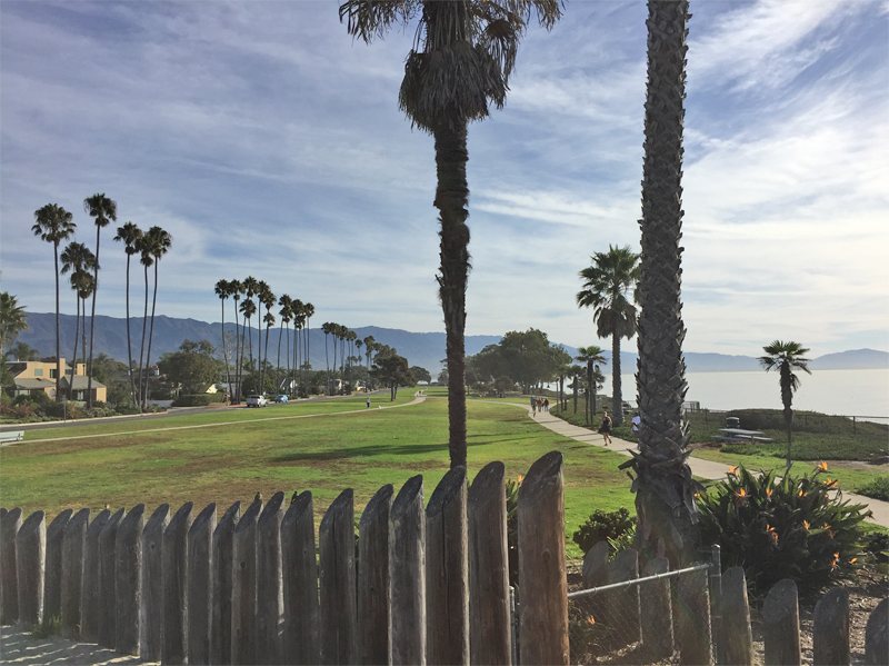 Great views on the bike path in Santa Barbara