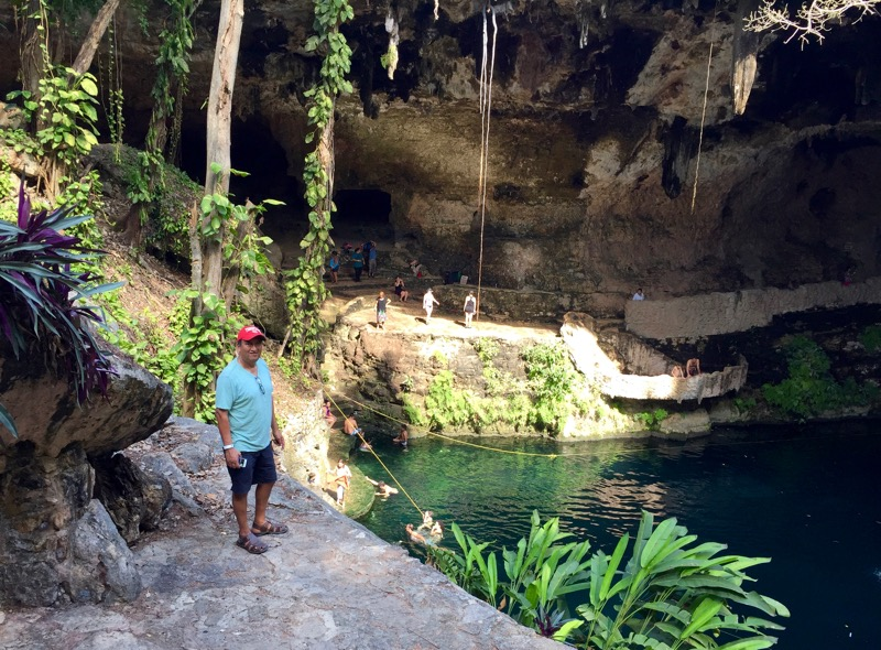 Cenote Zaci in Valladolid, Mexico (Credit: Michele Peterson)
