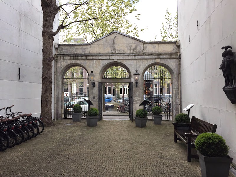 Courtyard of The Dylan, Amsterdam