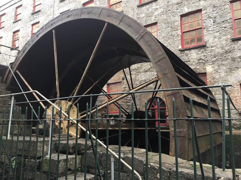 Waterwheel at the Old Distillery, one of few in the country that still work