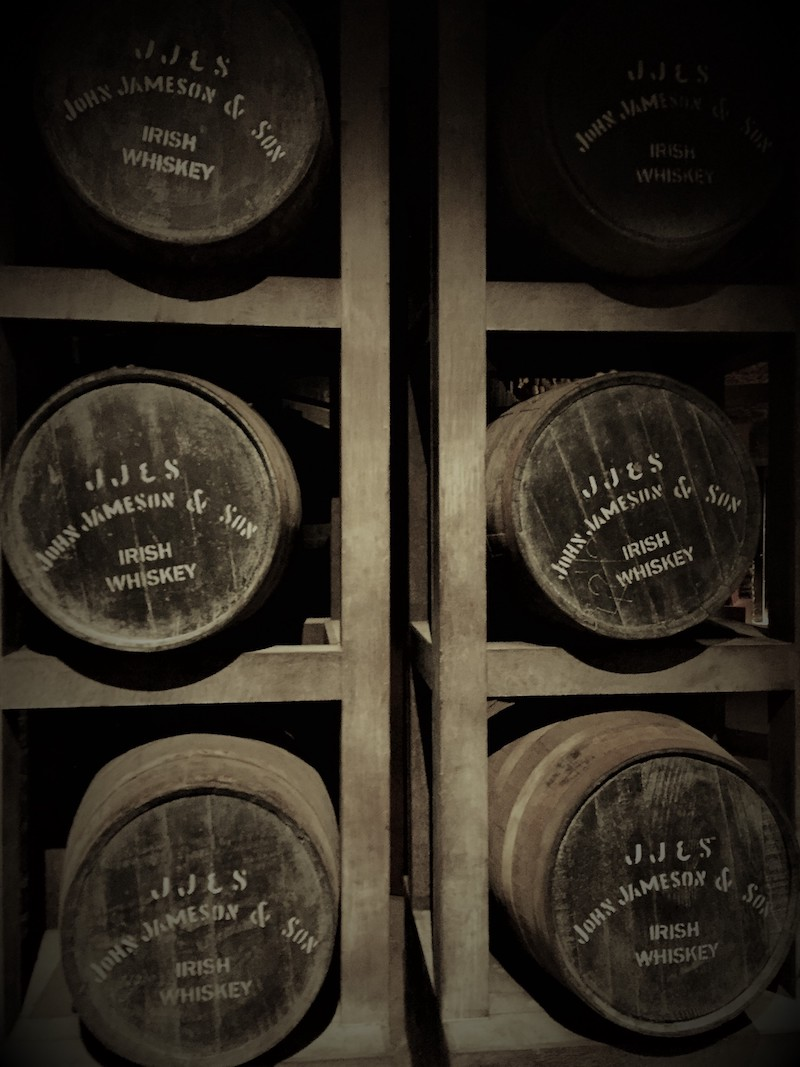 Whiskey barrels at Midleton Distillery