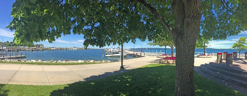 The Petoskey Public Marina on Little Traverse Bay