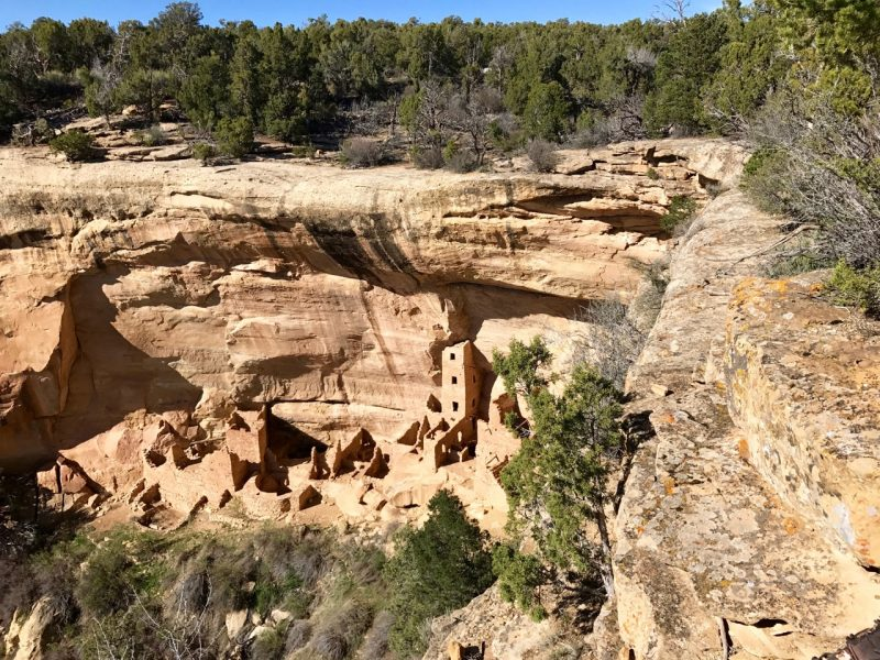 Ancient cliff dwellings are well preserved at Mesa Verde National Park