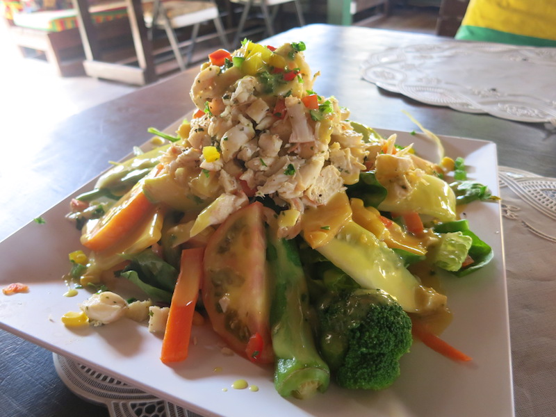 Lobster Salad at Sunshines in Nevis