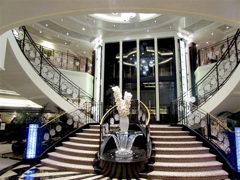 Marina's elegant atrium