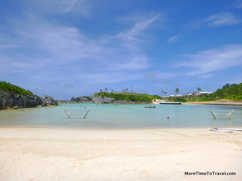 It's always easy to find a quiet beach in pink sands in Bermuda.