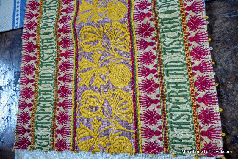 Intricate Umbrian textile