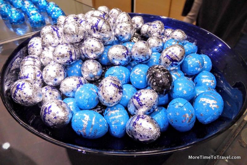 A tempting bowl of Baci chocolates