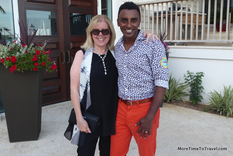 The author meets celebrity chef Marcus Samuelsson of Harlem's Red Rooster