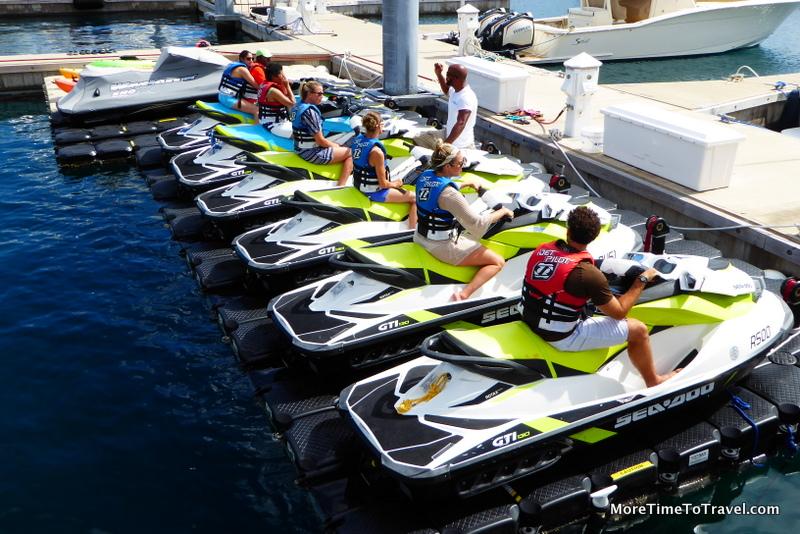A jet ski class at Hamilton Princess & Beach Club