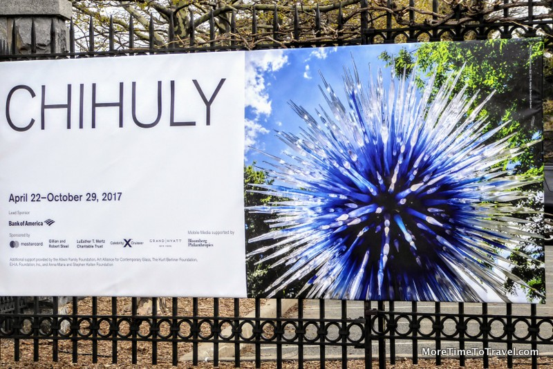 Signage for the Chihuly Exhibit at the NYBG