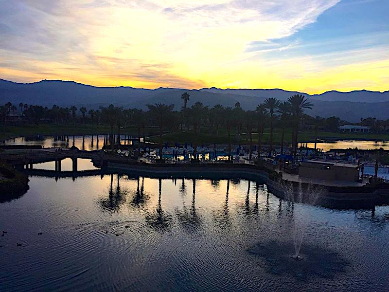 Sunset reflection at JW Marriott Desert Springs Resort and Spa, Palm Desert, CA