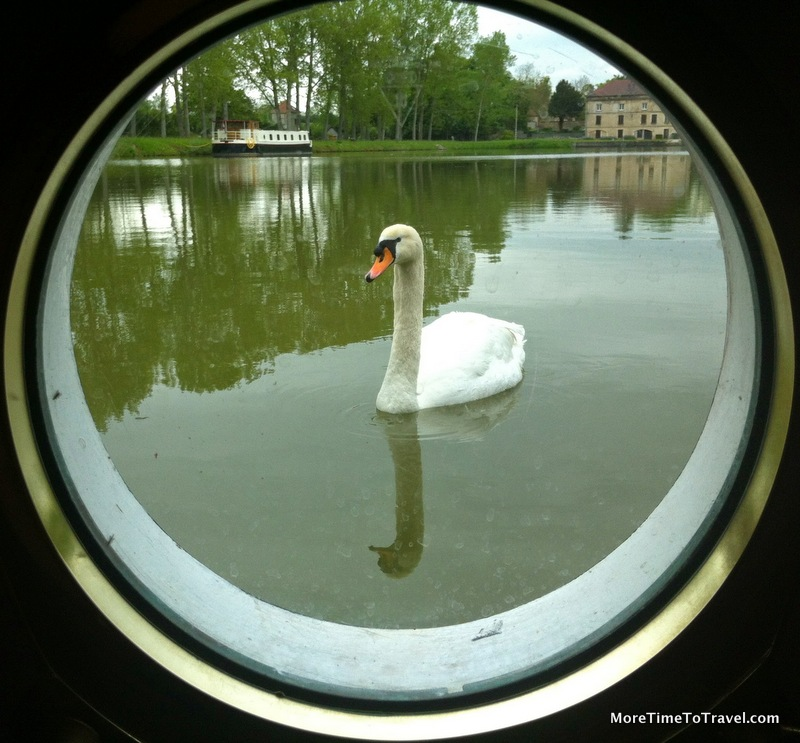 Canal view from a porthole