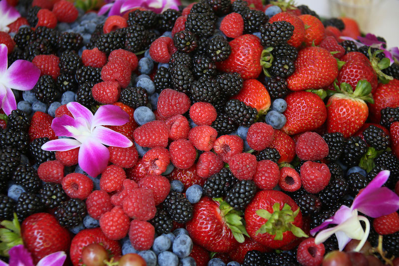 Fresh local berries for sampling (Credit: Santa Barbara Natural History Museum)