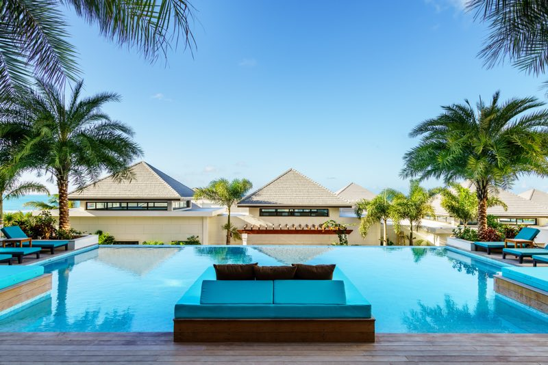 Tranquility Pool, a serene, adults-only retreat away from the beach (Credit: Zemi Beach House Resort & Spa)