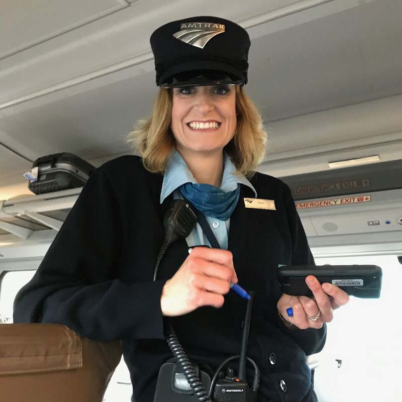 Amtrak Cascades conductor