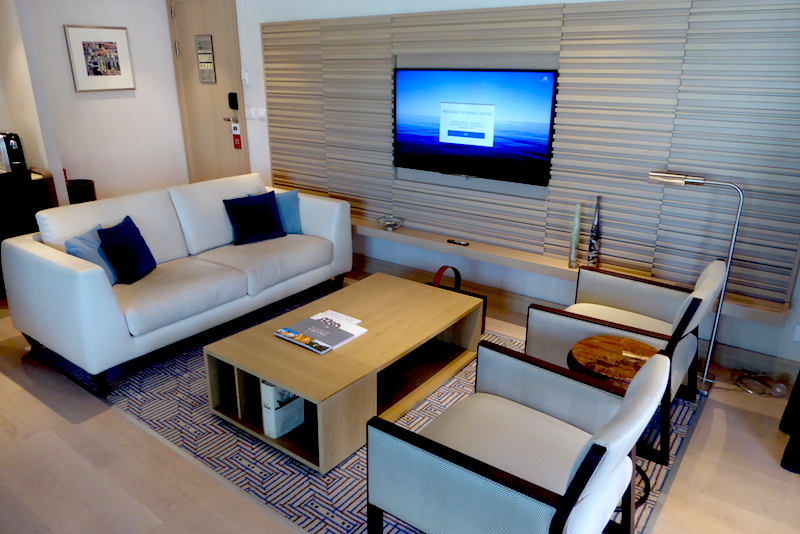 Our living room on the Viking Star