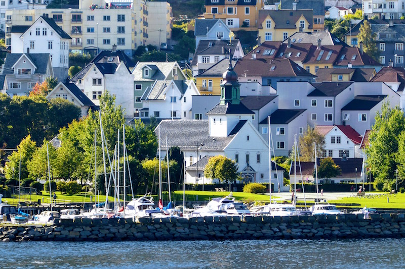 View of Bergen, Norway from the Viking Star