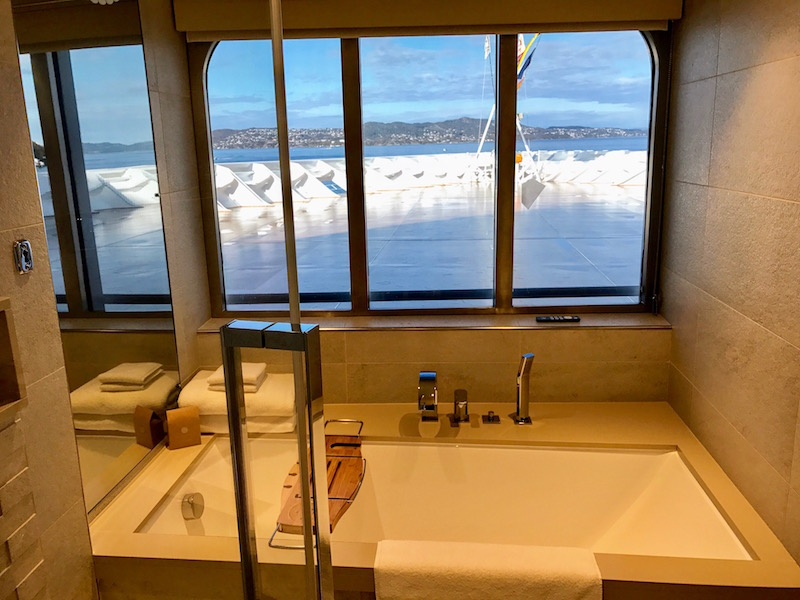 View from the bathroom in our Explorer Suite