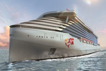 Artist's rendering of the first Virgin Voyages ship