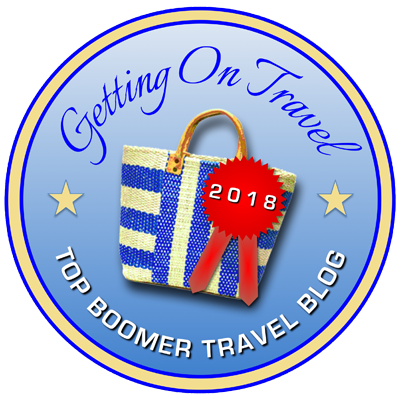 Getting On Travel Top Boomer Travel Blog 2018 Badge