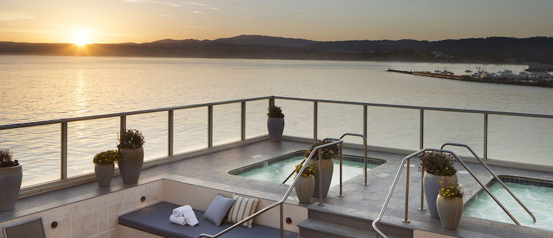 View from the Monterey Plaza Spa (Credit: Monterey Plaza Hotel and Spa)