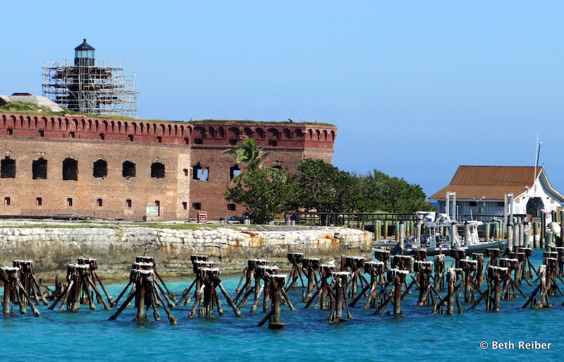 Fort Jefferson, which requires constant maintenance, offers tours and snorkeling