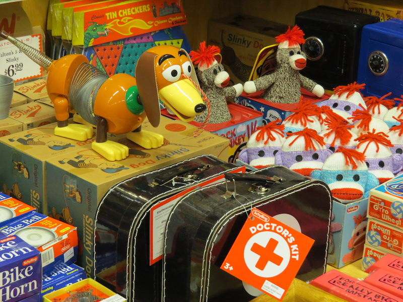 Five and dime store filled with games, toys and candy