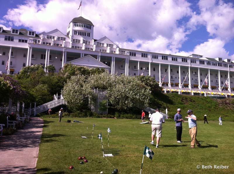 lawn games at the Grand Hotel on Mackinac Island