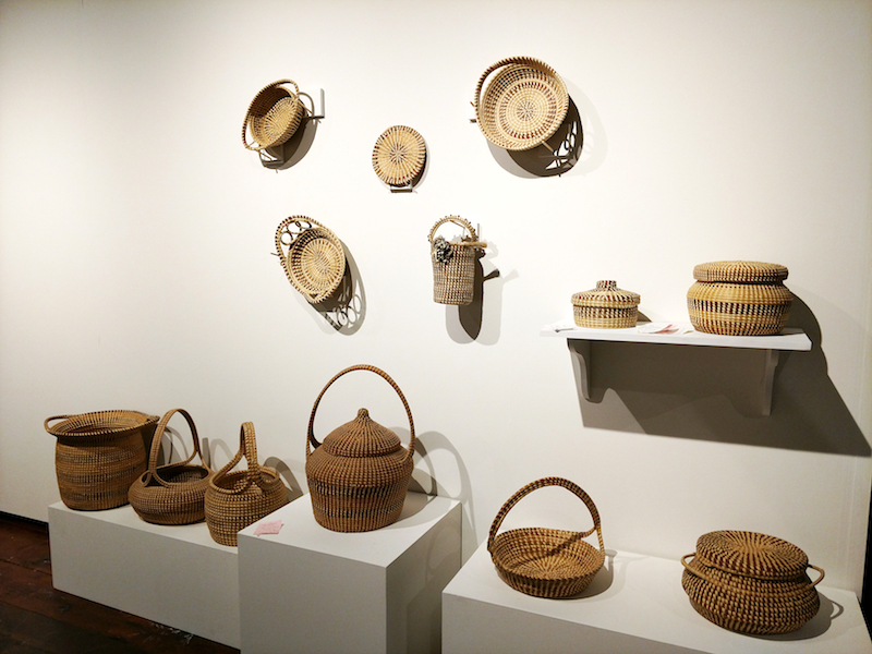 "Native American baskets, part of the current ""Interweaving Southern Baskets"" exhibit"