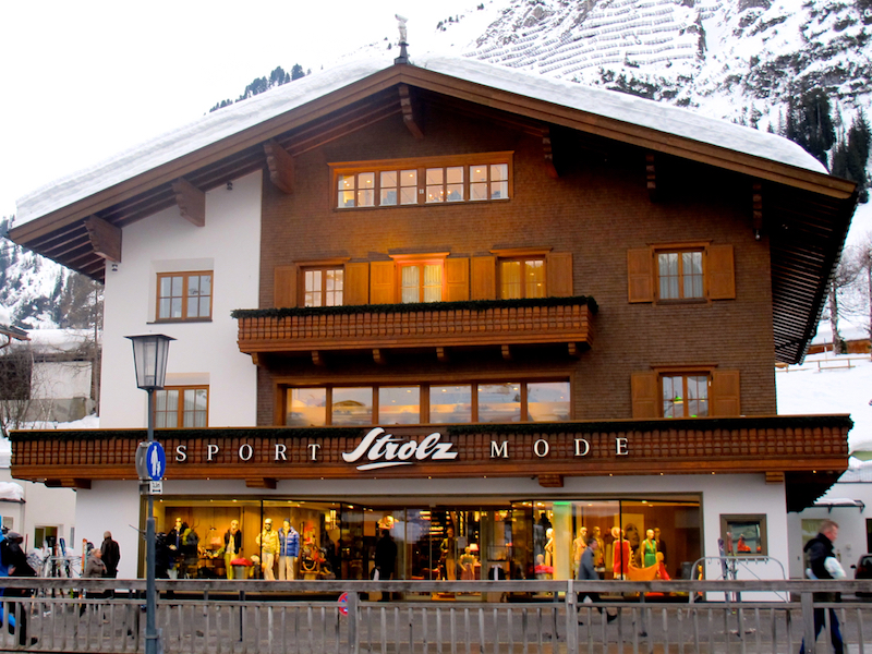 Strolz ski shop in downtown Lech. Hilary Nangle photo. IMG_9227.jpg