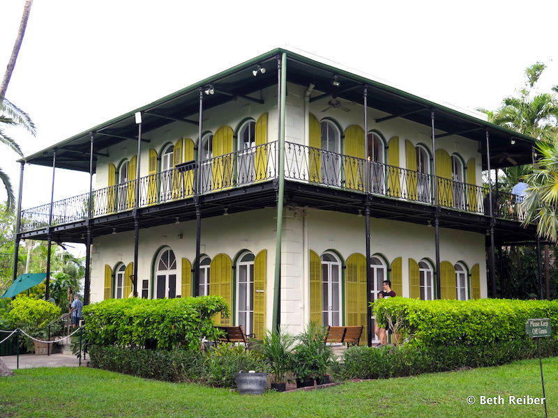 The Hemingway House gardens are popular for weddings---despite the fact that the writer was married four times