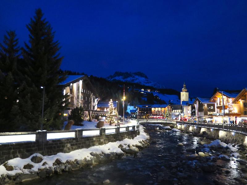 The village of Lech straddles a river. ©Hilary Nangle.jpg