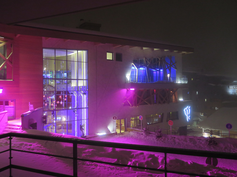 View from a balcony at the Club Med Val Thorens