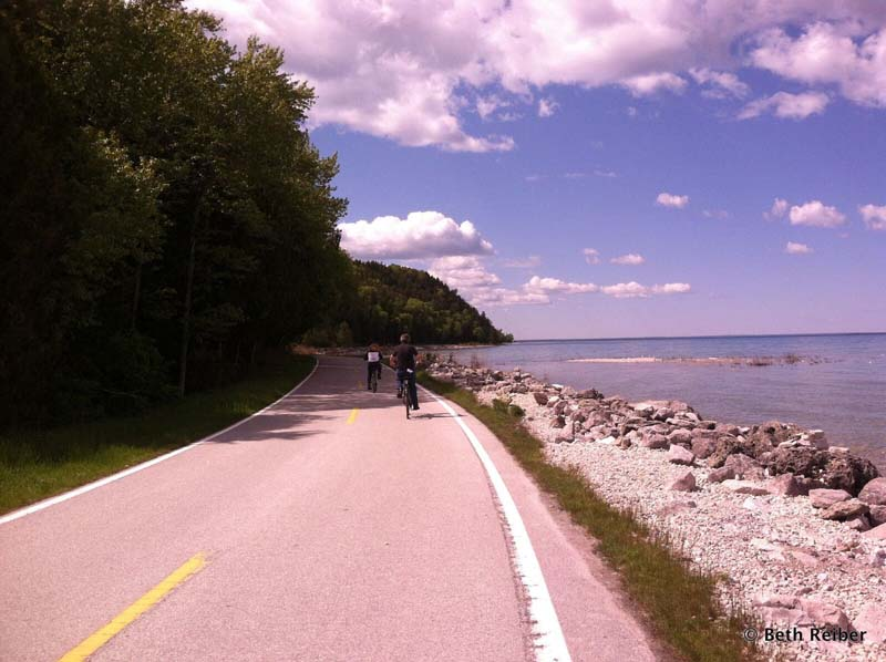 bicycling around Mackinac Island