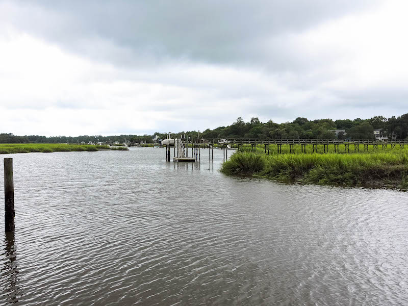 Ashley River outside Charleston on a rainy day