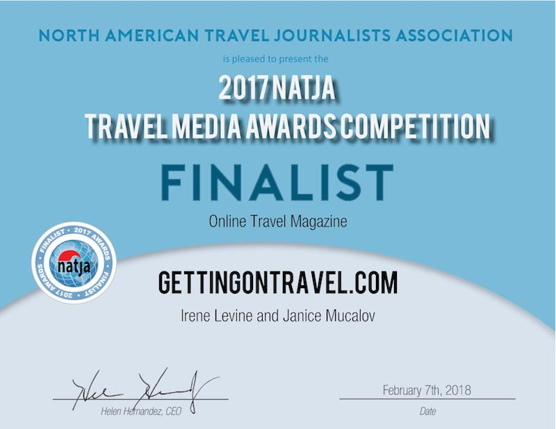 NATJA Awards Finalist - Gettingontravel.com
