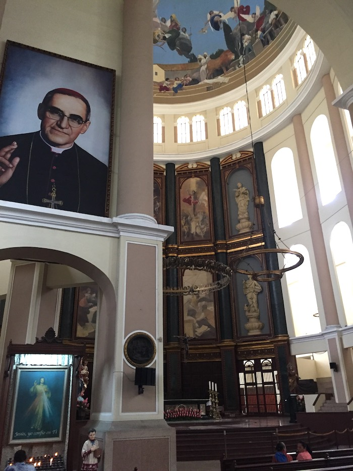Images of Archbishop Oscar Romero, assassinated in 1980, are abundant in El Salvador