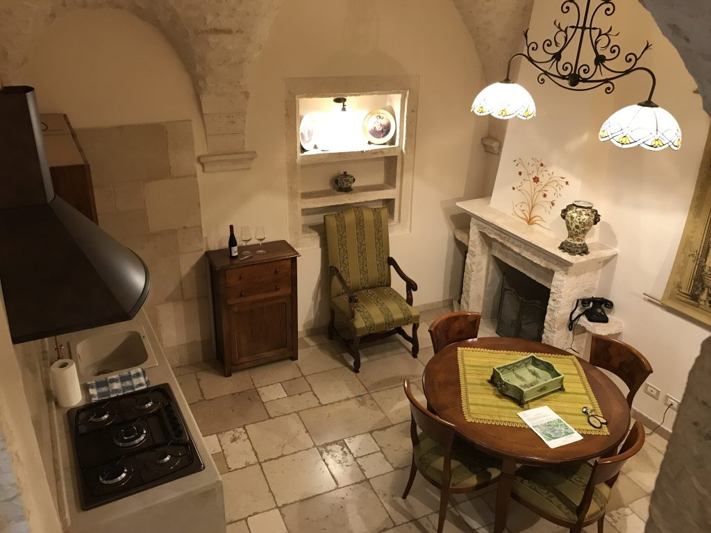 Kitchen in our duplex suite at Sotto Le Cummerse, a hotel diffuso (Credit: Jerome Levine)