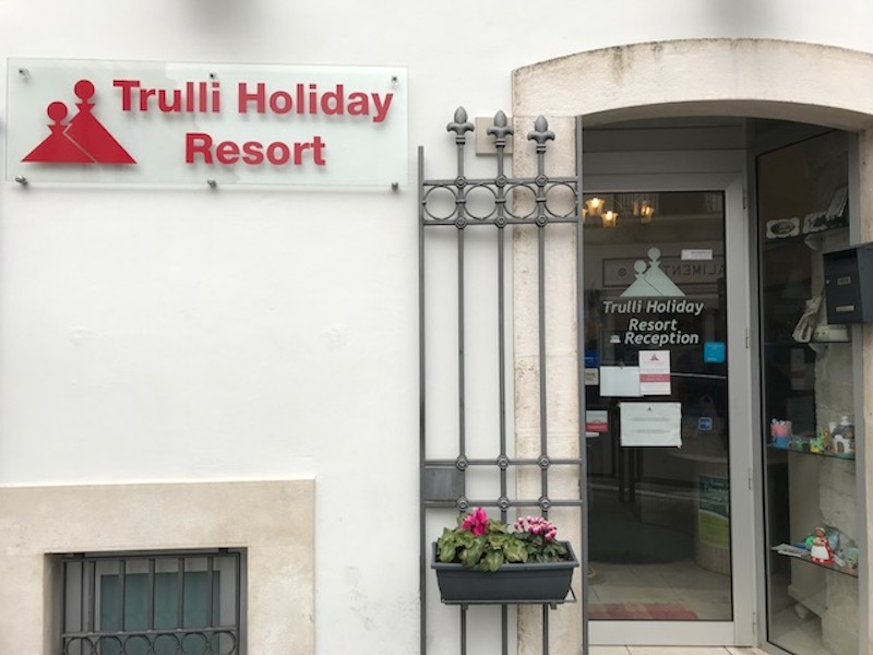 Trulli Holiday Resort reception office in downtown Alberobello, another diffuso hotel (Credit: Jerome Levine)