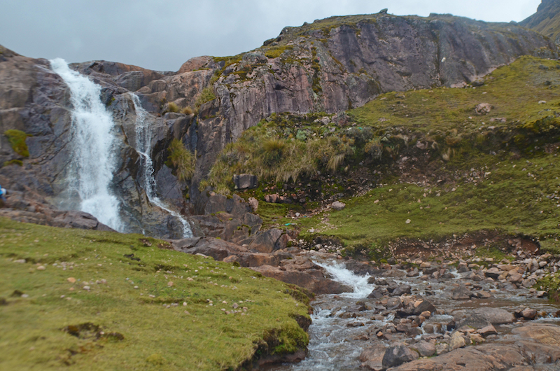 Two waterfalls at Huacahuasi