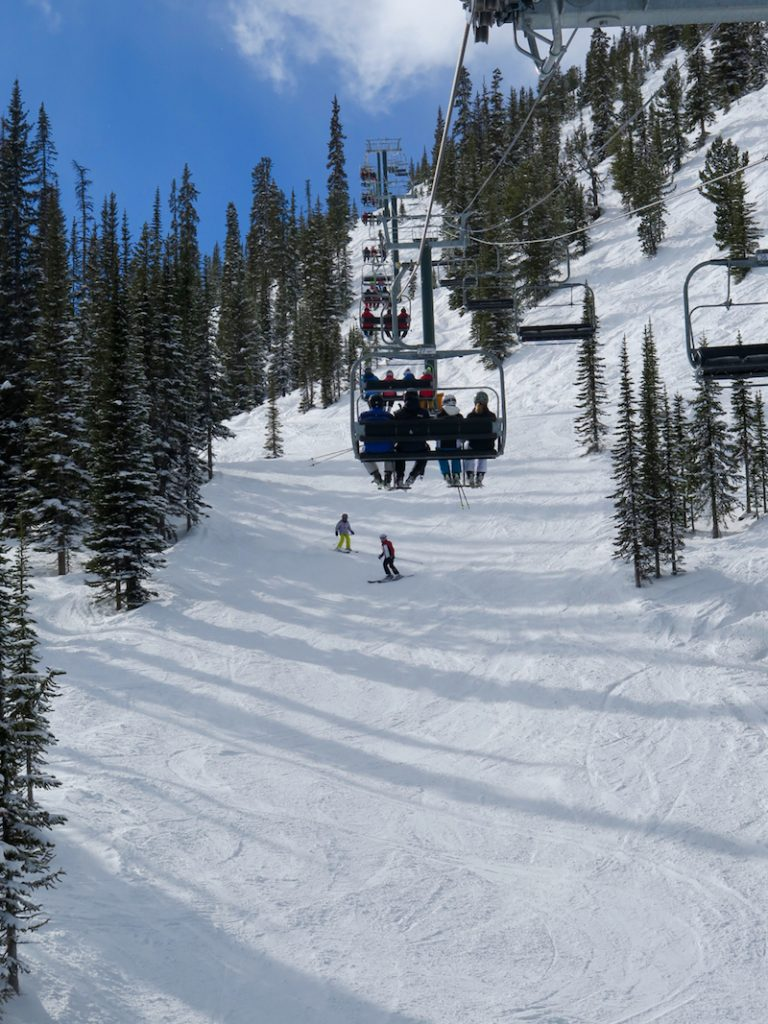 Crowds are rare at Kicking Horse