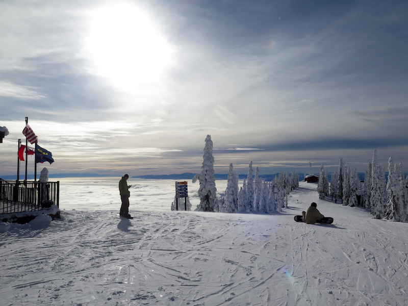 Some days, you can ski above the clouds at Whitefish, Montana