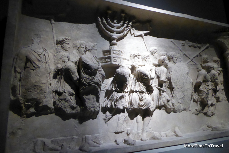 Bas-relief of Romans carrying spoils obtained after the destruction of the temple in Jerusalem