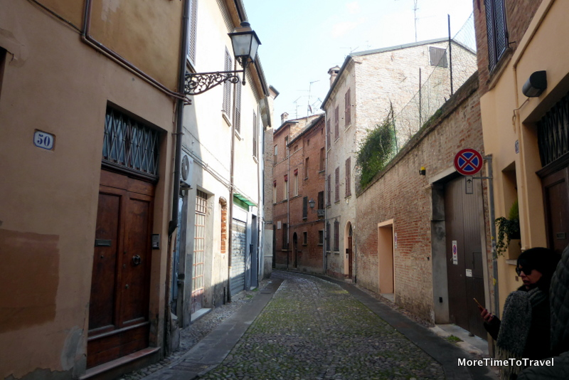 Street in Ferrara that was once part of the Jewish Ghetto