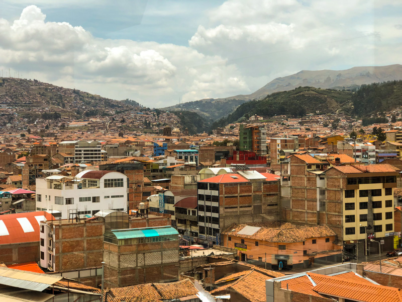 Rooftops in the valley of Cusco, Peru